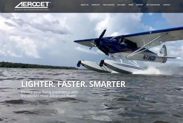 aerocet, website design