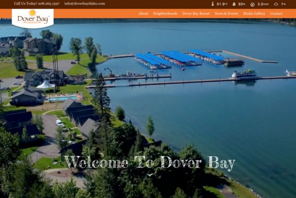 dover bay, resort website design