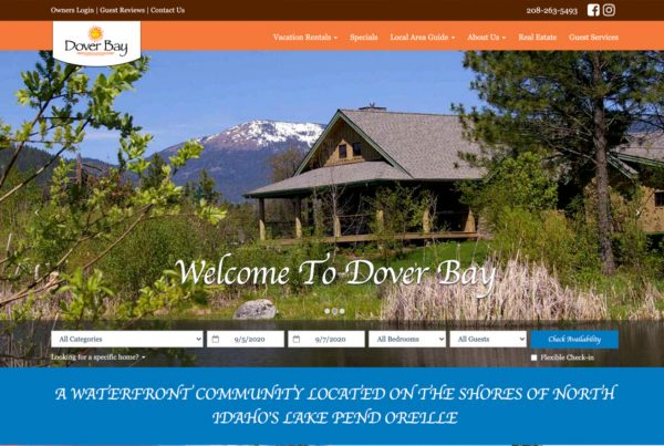 dover bay, website design, property management website design