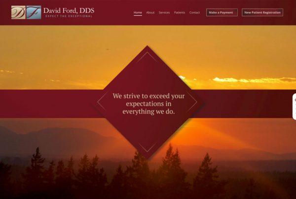 david ford dds, dentist website, dental website