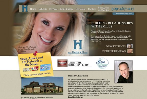 dr. heinrich, website design, online hippa forms, website development