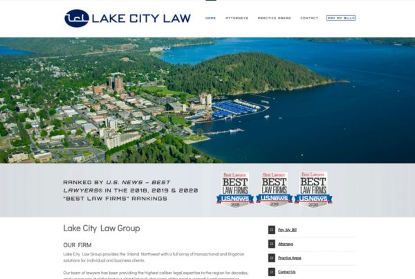 lake city law group, website design, website development