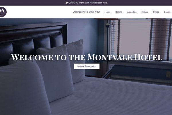 montavale hotel, hotel website development