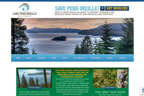 lake pend oreille, website design, website development
