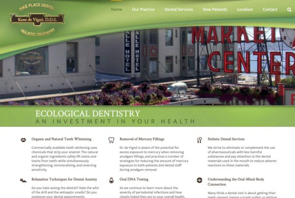 ecological dentistry, pike place dental, dentist website design