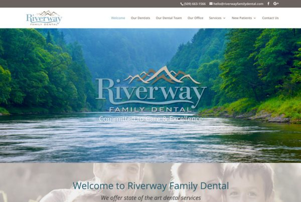 riverway family dental, dentist website design