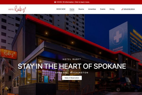 hote ruby 2, website design, hotel website design