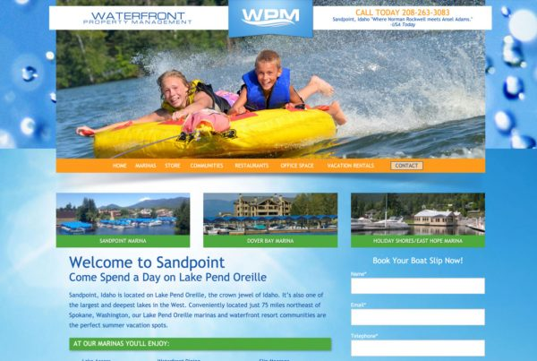 waterfront property management, real estate website design, property management website design