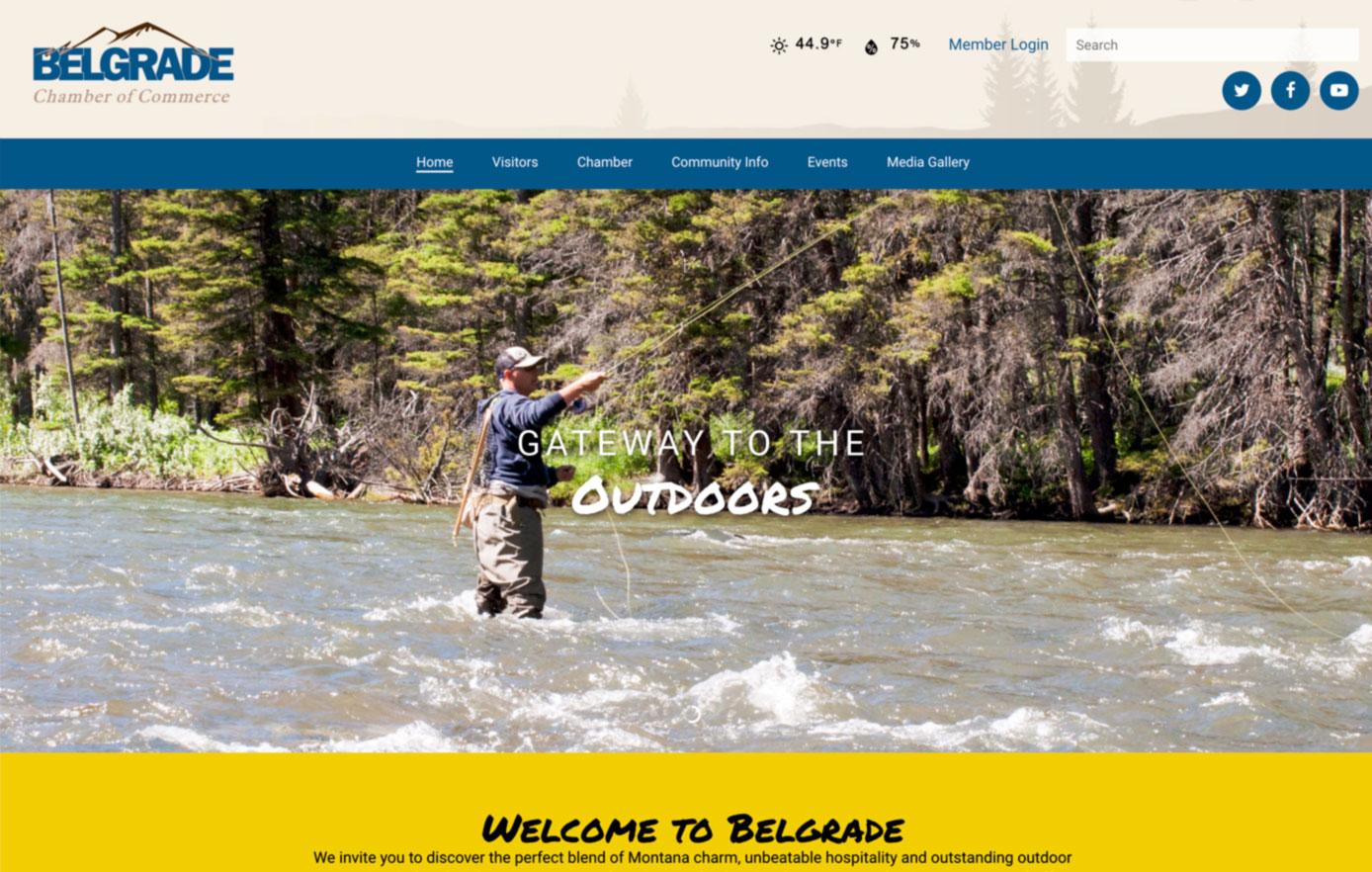 visit belgrade, website design, chamber of commerce website design