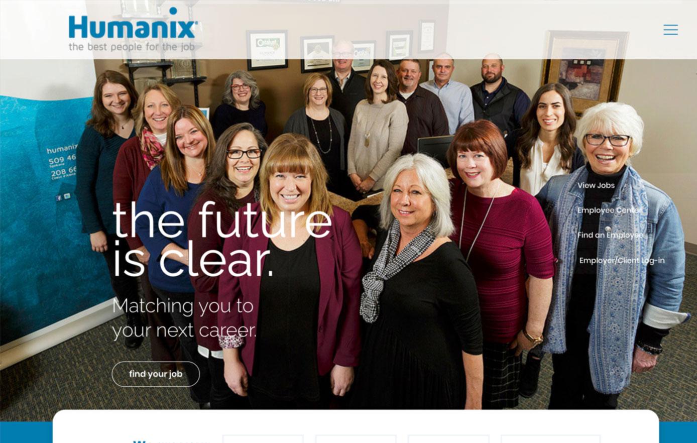 humanix, website design