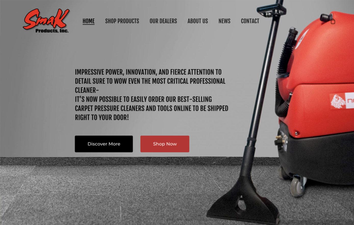 smak products, website design, ecommerce website design