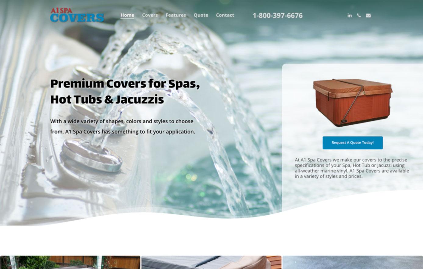 website design, florida, a1 spa covers,