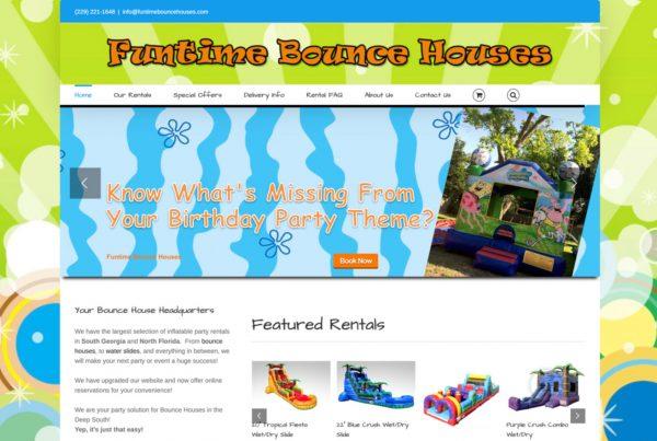 website design, fun time bounce houses, fun websites