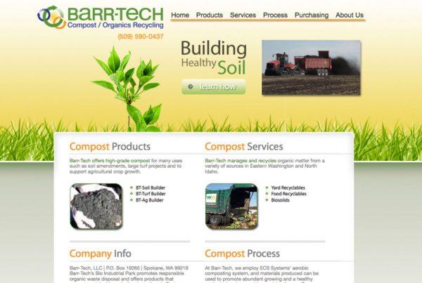 barr-tech, environmental website design