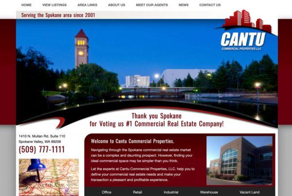 cantu commercial properties, website design