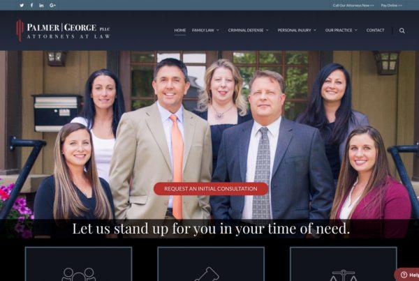 palmer george pllc, attorney website design