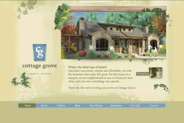 cottage grove, custom website design