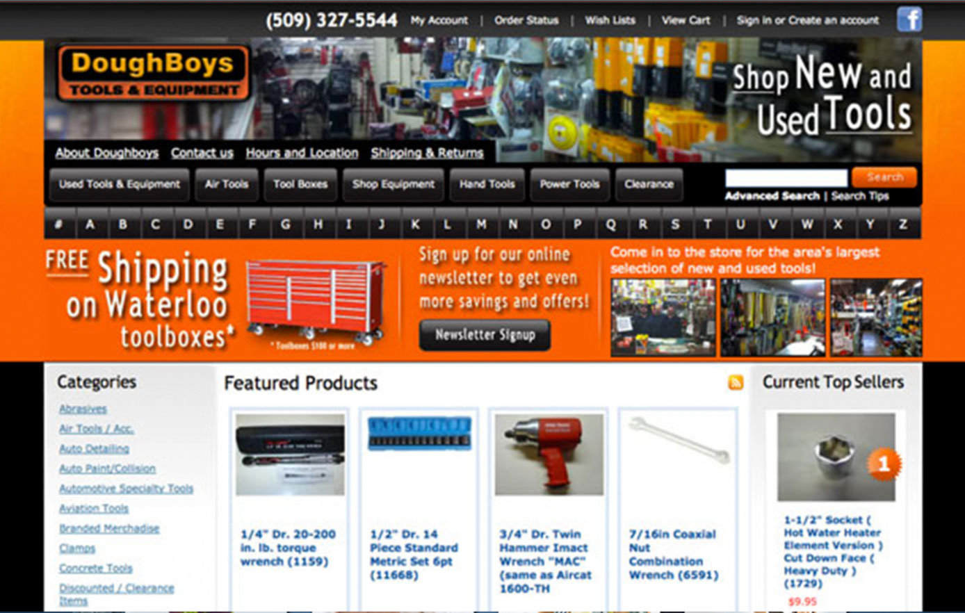 doughboys tools and equipment, website design