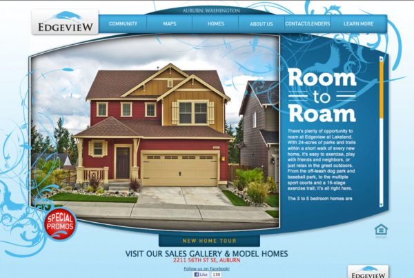 edgeview, real property website design