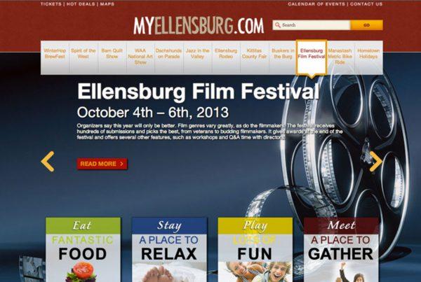 myellensburg, event website, website design