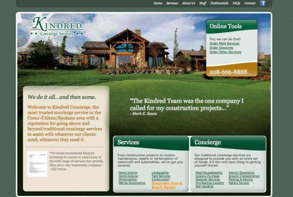 kindred concierge services, website design, website security