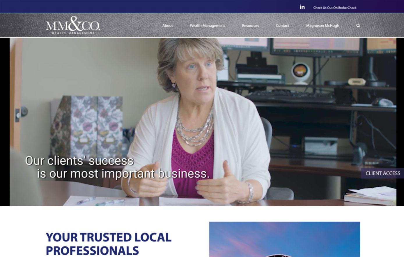mm&co wealth management, website design, website maintenance