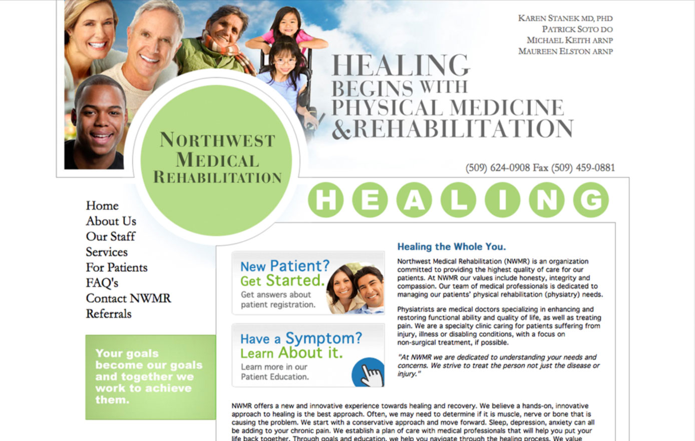 northwest medical rehabilitation, website design