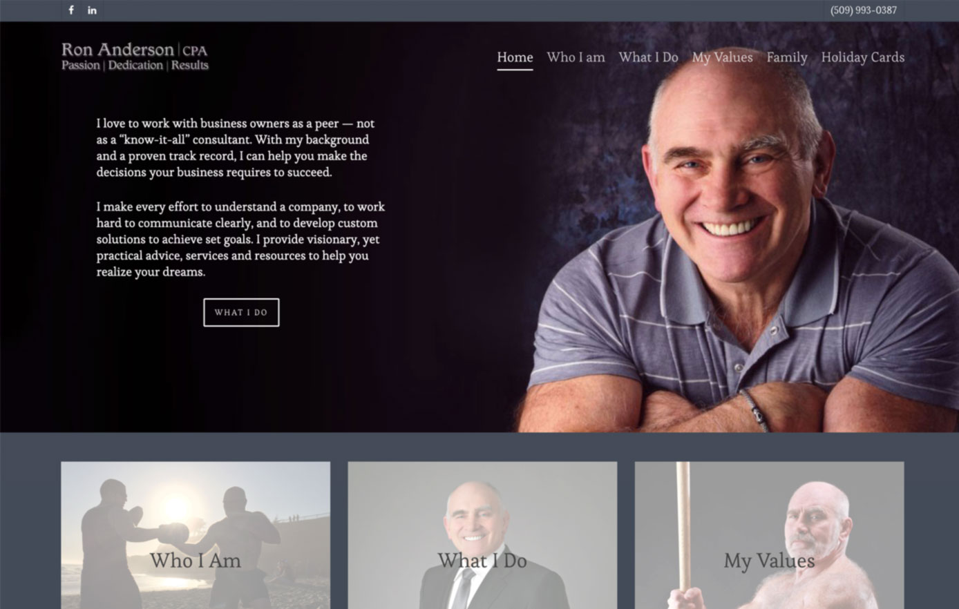 ron anderson cpa, website security, website design