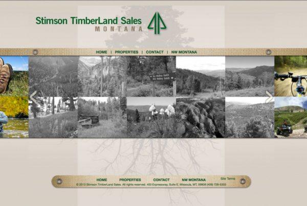 stimson timeberland sales, real estate website design, property listing websites