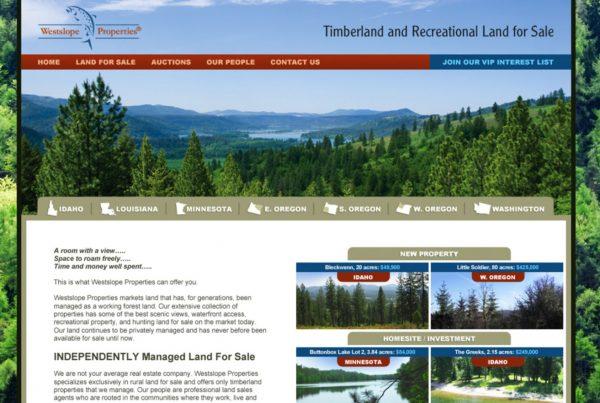 westslope properties, real estate website